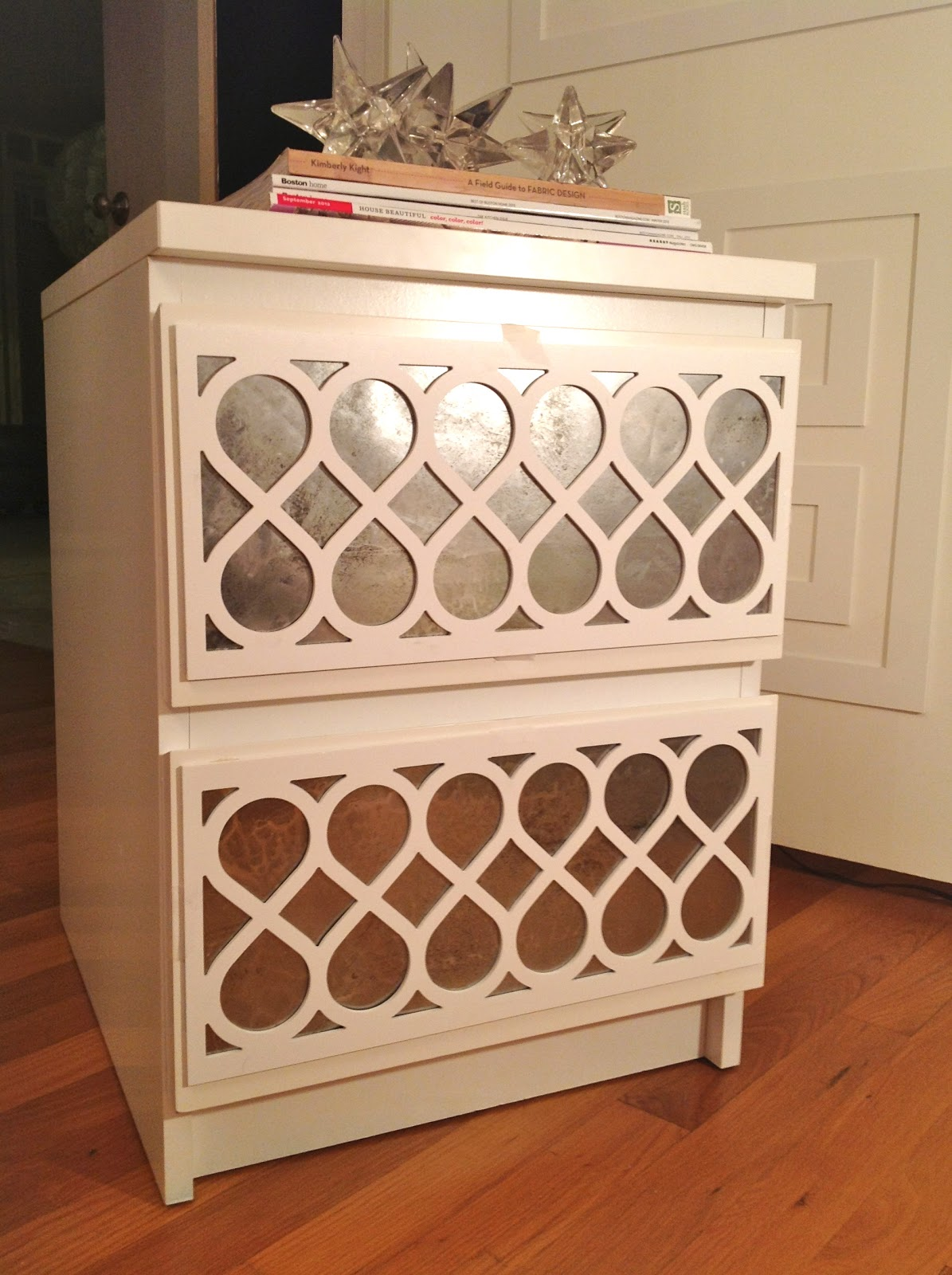 Danika cheryle llc make your own antiqued mirror part 1 for Make your own bedside table