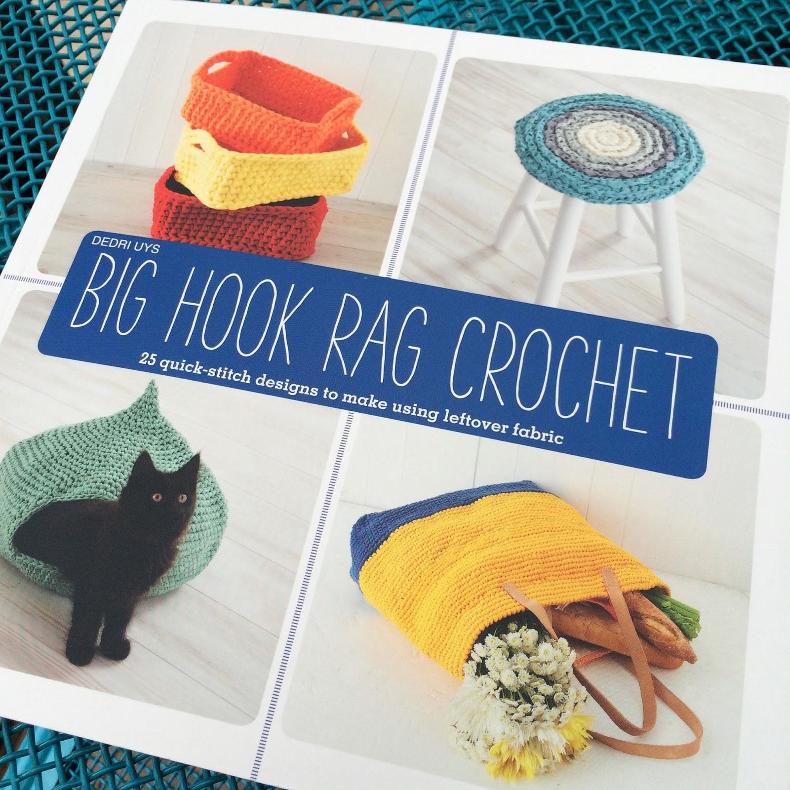Book Cover Crochet Hook ~ Crochet in color big hook rag crochet