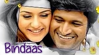 Watch This Full Length Action Romance Drama South Indian Movie Dubbed In Hindi Bindaas Starring Puneet Rajkumar Hansika Motwani Rahul Dev