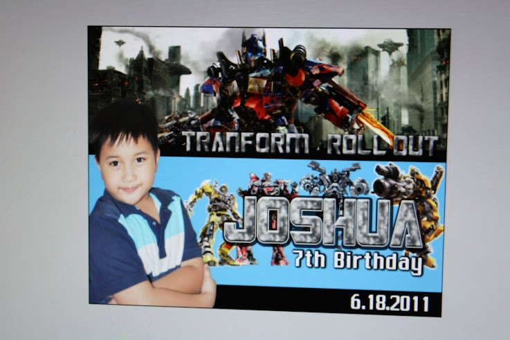 Josh's 7th Birthday (Transformers)