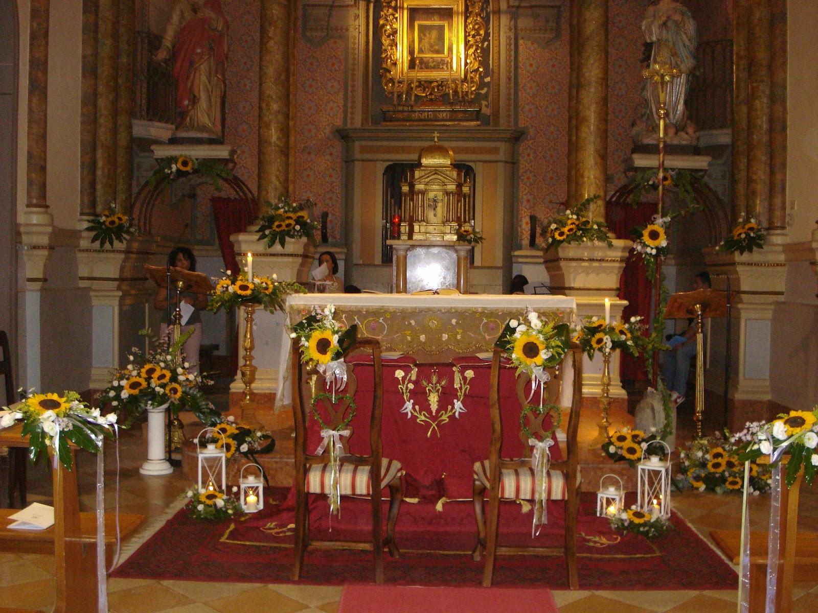 Matrimonio Girasoli Chiesa : Addobbi chiesa matrimonio con girasoli migliore