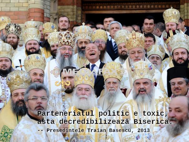 Parteneriatul politic e toxic, asta decredibilizează Biserica.