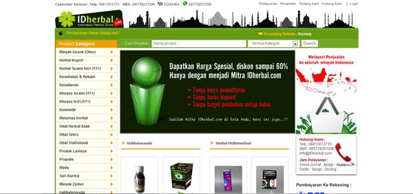 Idherbal.com Toko Online Produk Herbal Terpercaya