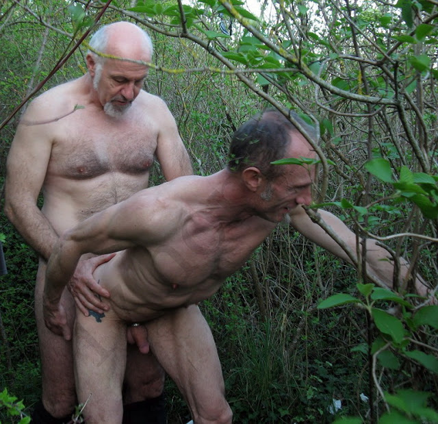 Gay bald hairy chest