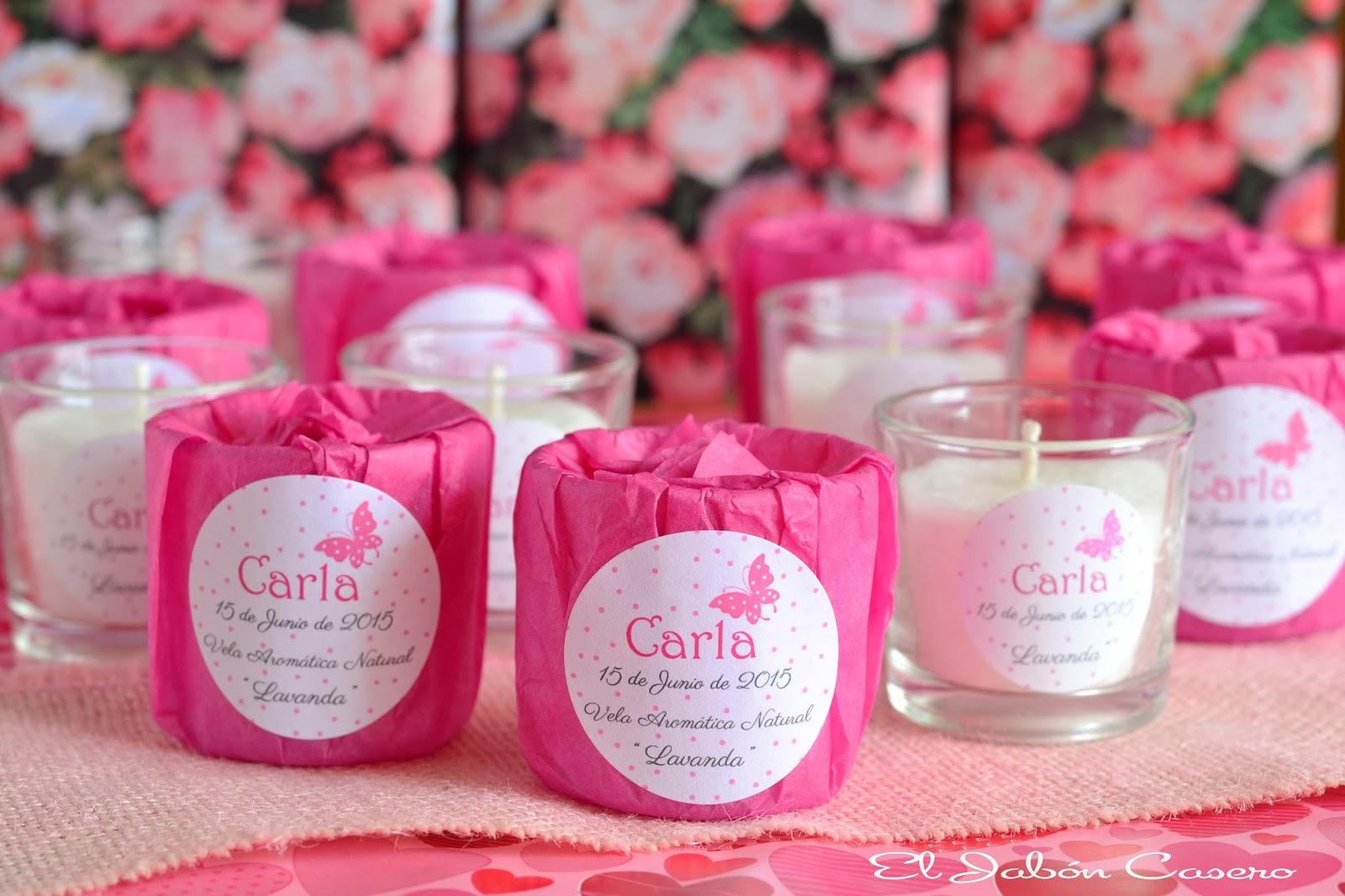 El jab n casero detalles de bautizo velas aromaticas en - Detalles para regalar en boda ...