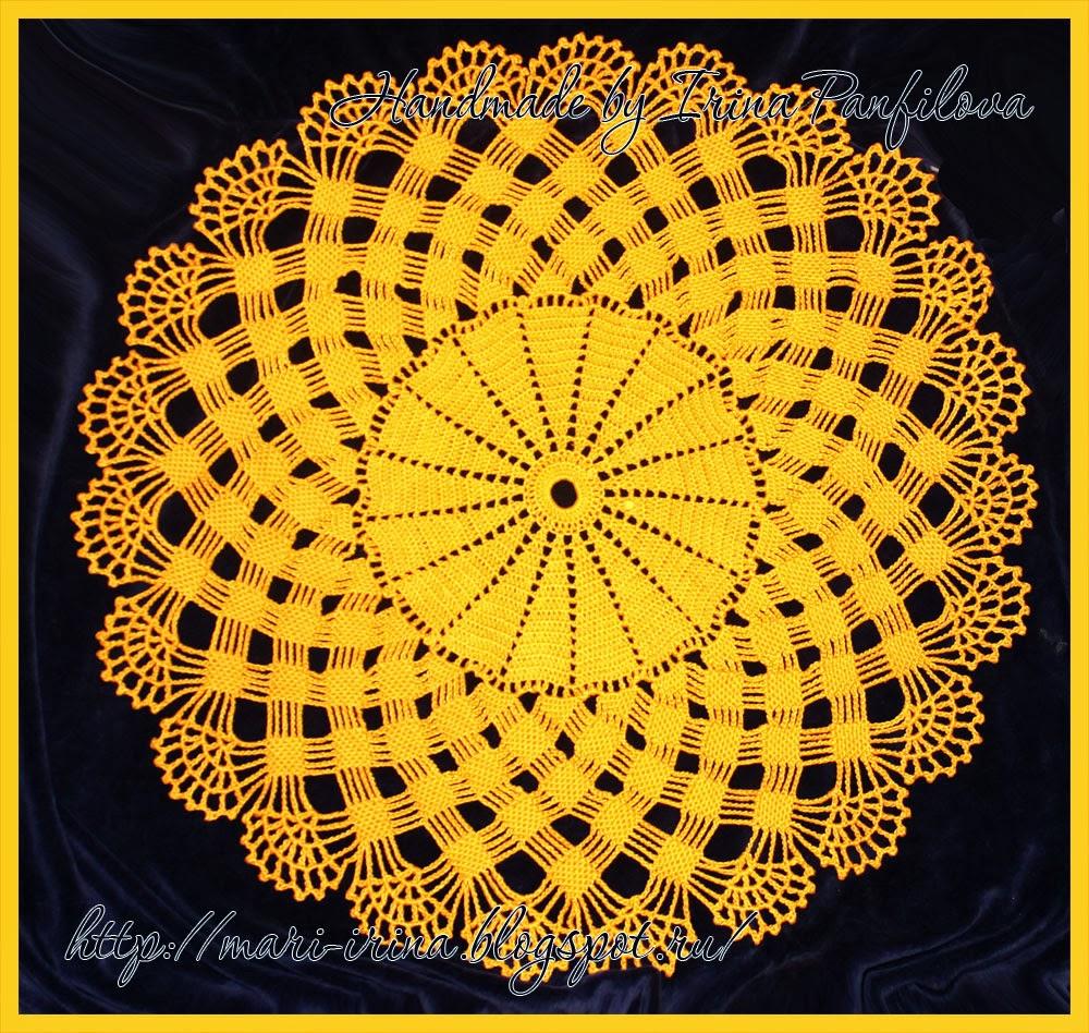 Плетение салфетки крючком