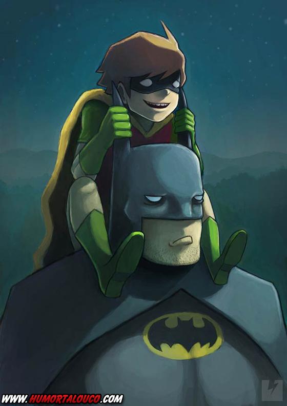 18 animações do mundo dos vídeos games e desenhos - Batman e Robin