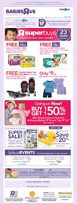 Click to view this June 19, 2011 Babies R Us (version 1) email full-sized