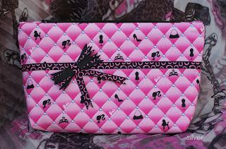 косметичка текстильная розовая