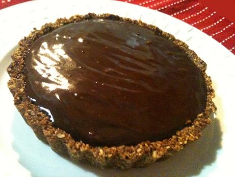 Chocolate Banana Pecan Pie - Gluten Free, Graine Free, Dairy Free