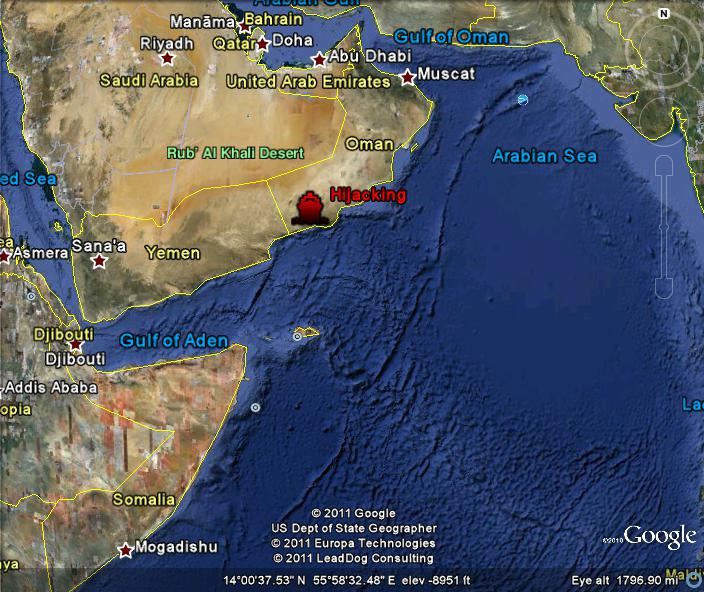 Eaglespeak somali pirates tanker hijacked off oman somali pirates tanker hijacked off oman gumiabroncs Gallery