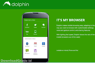 Mini Browser Mobile Untuk Android - Dolphin Browser