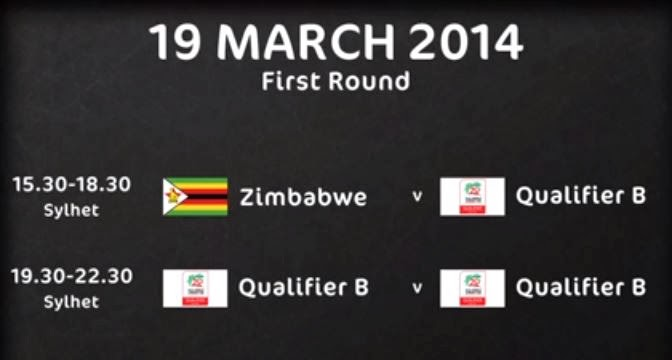 Qualifying Matches Schedule for 2014 T20 World Cup