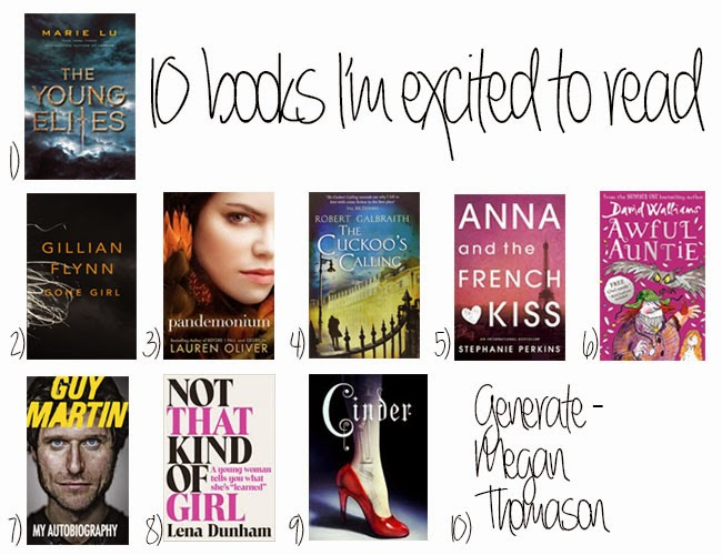 10 books I'm excited to read
