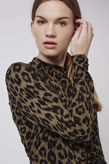 leopard print top, topshop leopard top,