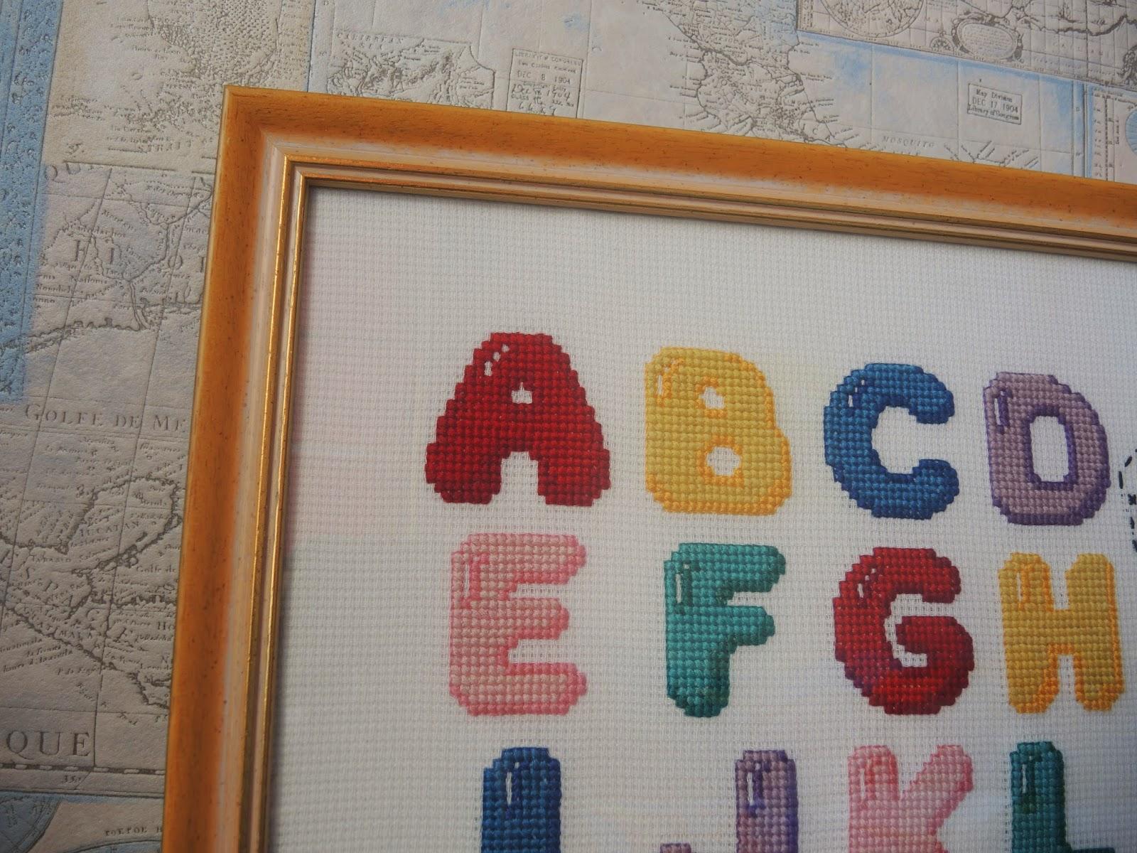 Алфавит вышивка английский буквы
