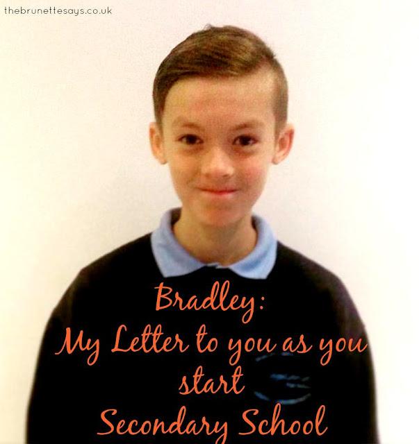 Letter, son, secondary school