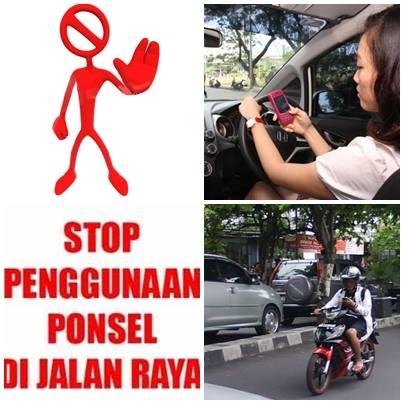 stop penggunaan ponsel di jalan raya