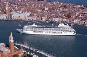 Crystal Cruises Ships In Venice's Main Canal