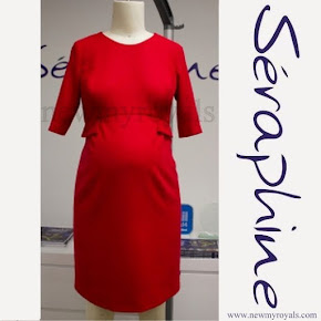 Crown princess Victoria SERAPHINE Bespoke Maternity Dress