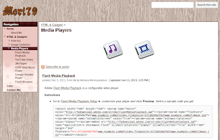 Media Player Help - With Google Sites