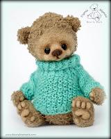 Бирюзовый свитер для мишки. Мастер-класс.