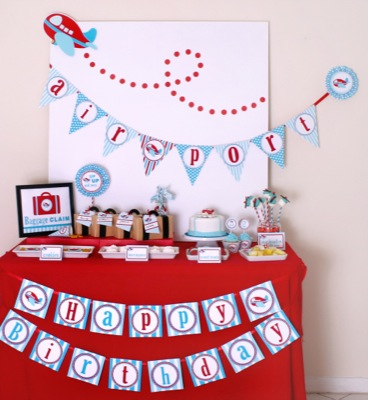 Vens Paperie: Birthday Party Set: Airplane Party Theme