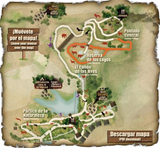Mapa del Selwo Aventura de Estepona