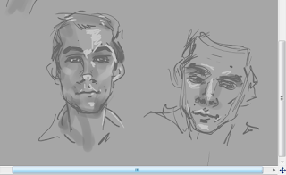 sketches of Stilinski from Teen Wolf