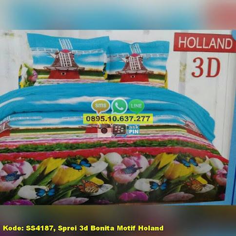 Sprei 3d Bonita Motif Holand