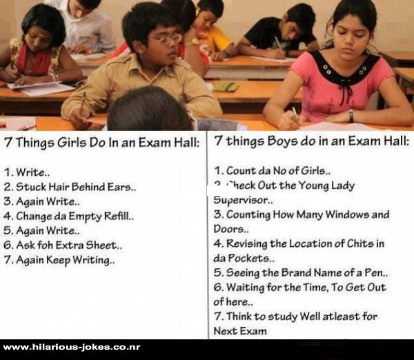 What Boys and Girls Do In Exam?