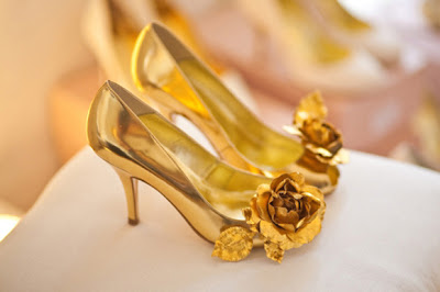 Wedding Lady Gold Wedding Shoes