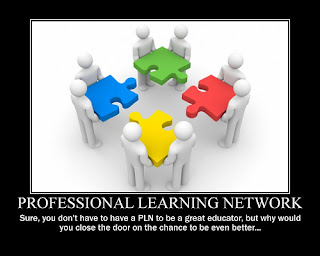 professional learning network: sure you don't have to have a PLN to be a great educator, but why would you close th door on the chance to be even better..
