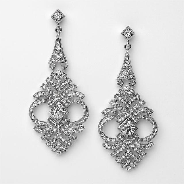 antique chandelier earrings wedding - Two Golden Rings: Antique Bridal Earrings Antique Chandelier