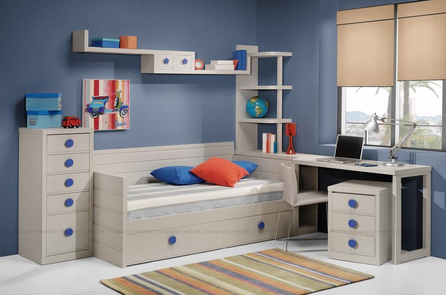 Dormitorio juvenil con cama nido blanca armario de 2 - El mueble dormitorio juvenil ...