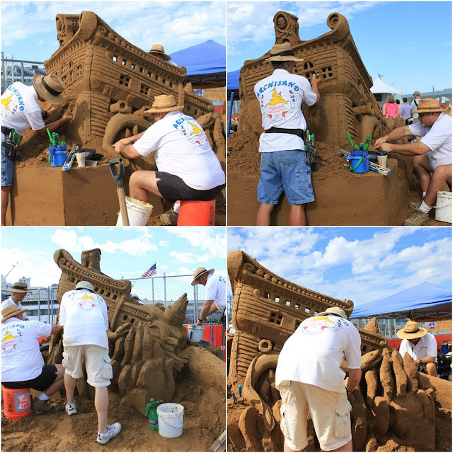 IB Posse designed sinking ship with a giant sea snake at Sand Sculpting Challenge 2012 in San Diego, California, USA