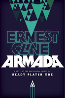 Hardback UK book cover of Armada by Ernest Cline