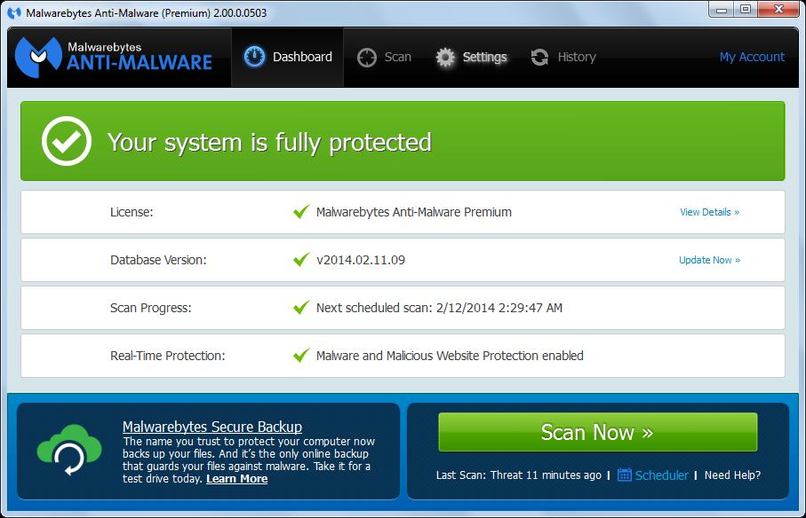 Malwarebytes Anti-Malware 2.0 softwikia