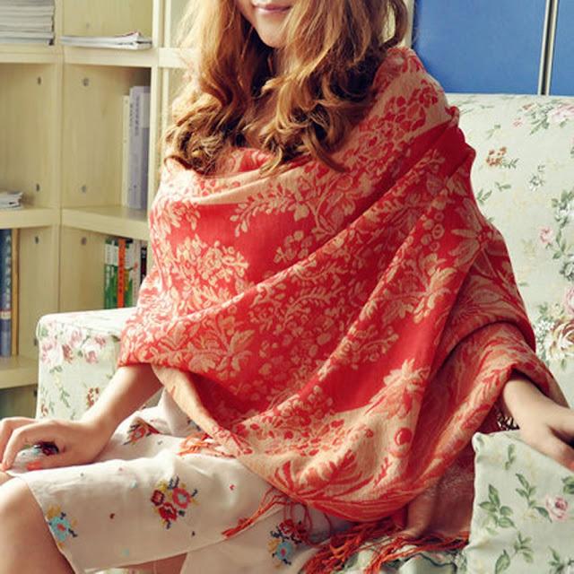 royal look of silk shawl