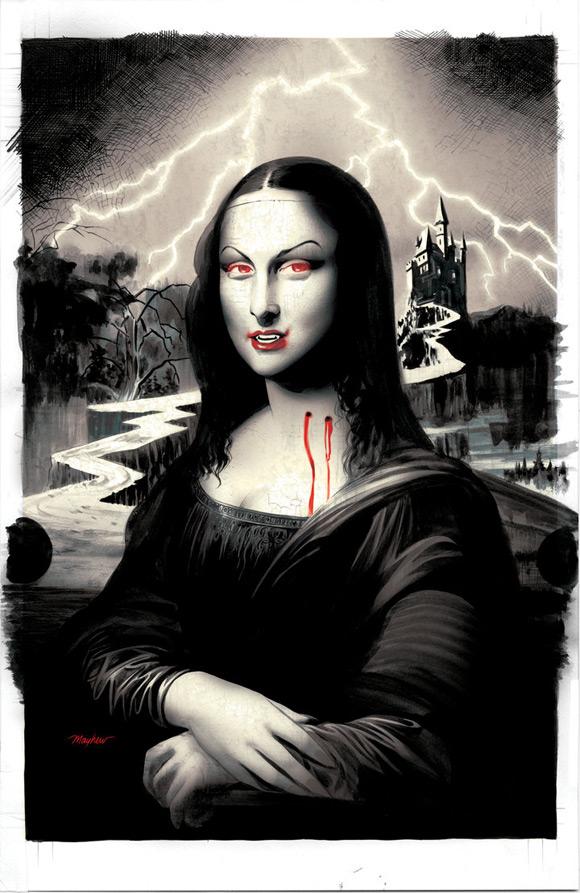 Mona Lisa al estilo vampiresa