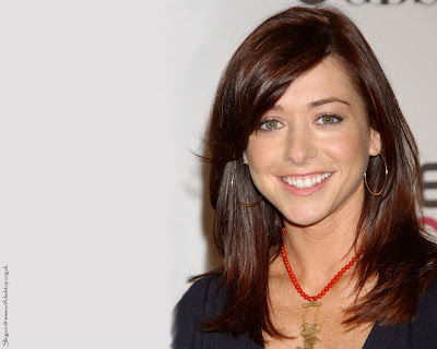American Television Celebrity Alyson Hannigan Wallpaper
