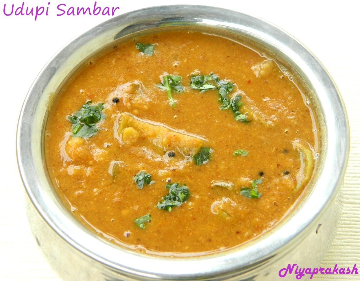 Niyas WorldUdupi Sambar (with coconut paste)