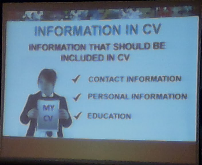 Informasi yang penting dalam CV - 1
