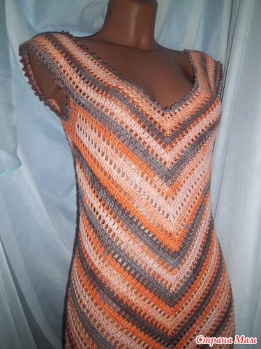 Как вязать платье Ольги Тарасовой схема описание