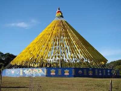 Templo budista de Três Coroas - Bandeirolas de Oração