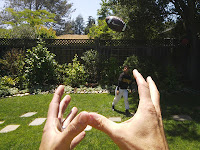 Catch ball - Google glass