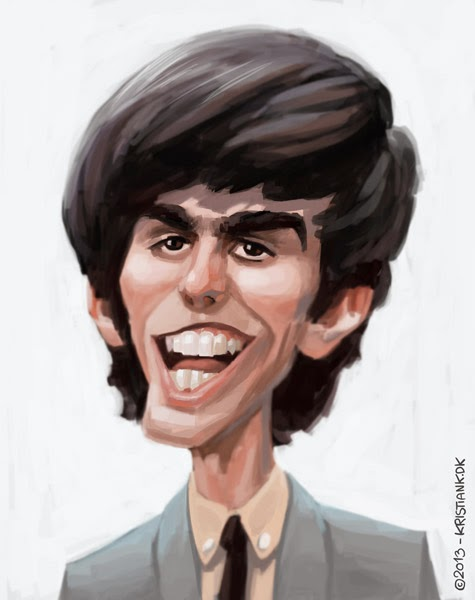 Young George Harrison ...