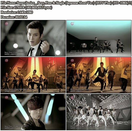 Download PV Super Junior - Sexy, Free &amp; Single (Japanese Short Ver.) (SSTV Plus Full HD 1080i)