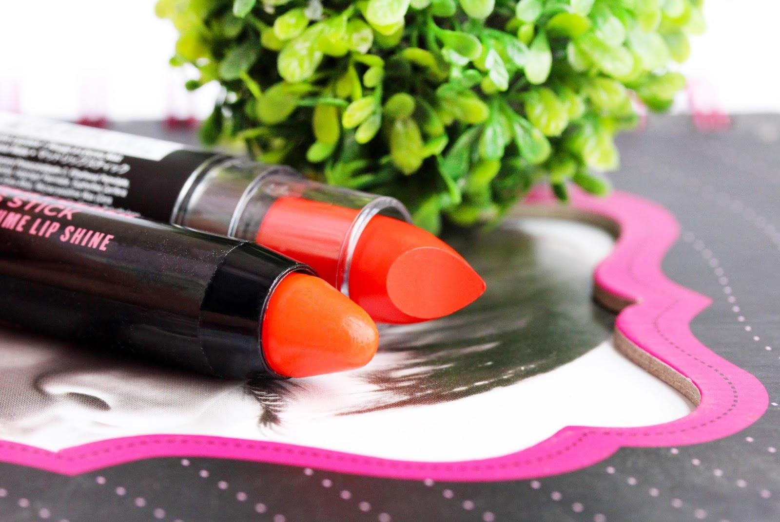 NYX Matte Lipstick in Indie Flick and Soap & Glory Fuchsia-Ristic