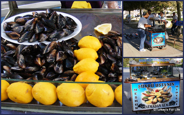 Turkish Street Food - Stuffed Mussels or Midye Dolması